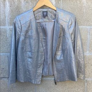 Vince Camuto silver blazer with front pockets